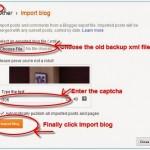 Cách import bài viết vào Blogspot