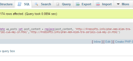 Find and replace trong phpmyadmin