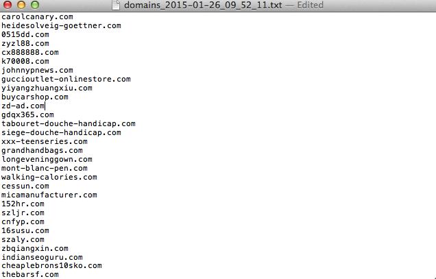 expireddomains list domain