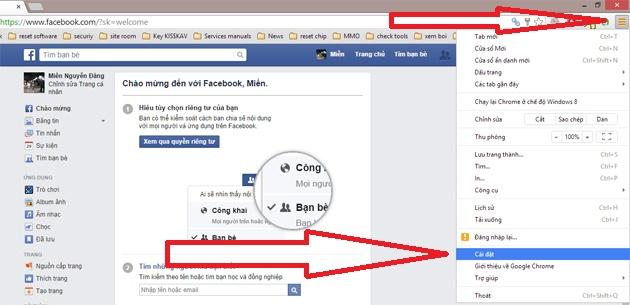 cach lay mat khau facebook tren chrome buoc 1