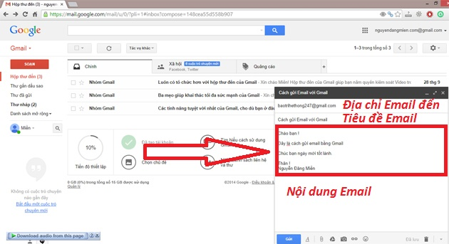 cach gui email bang gmail buoc 3
