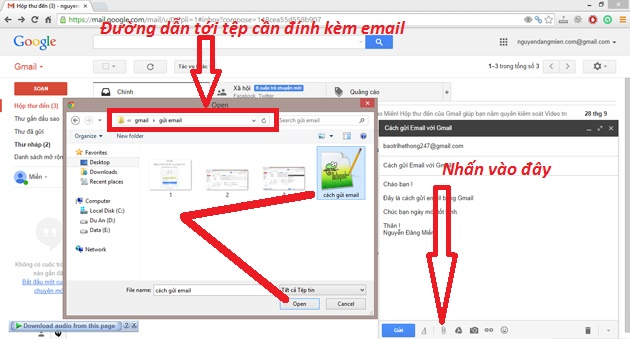 cach gui email bang gmail buoc 4