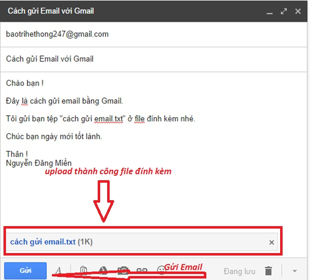 cach gui email bang gmail buoc 5