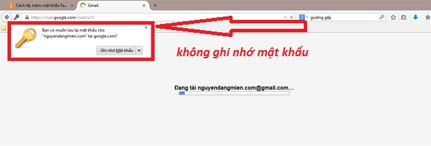phong tranh lay trom mat khau gmail tren firefox