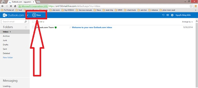 cach gui email bang hotmail buoc 2