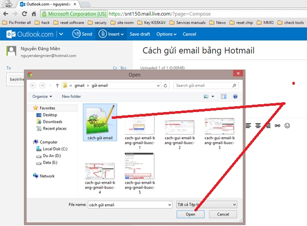 cach gui email bang hotmail buoc 4-1