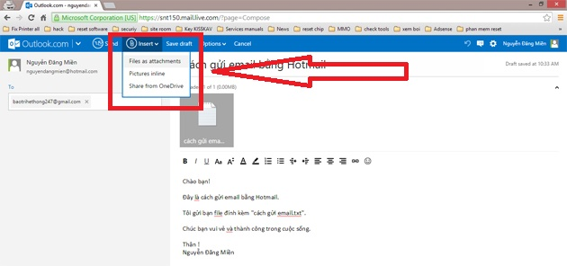 cach gui email bang hotmail buoc 4