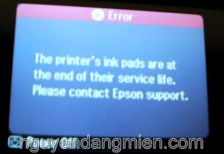 máy in Epson XP-402/403/405/406 lỗi 2 đèn